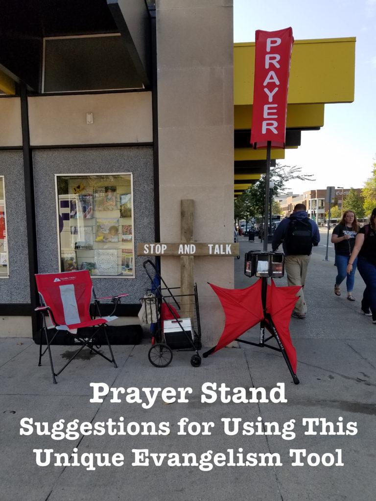 Prayer Stand in Downtown Iowa City