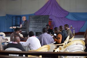 Tony teaching New Testament Survey during the Didache Institute
