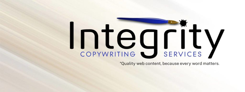 This is the logo of Tony's tent-making venture, Integrity Copywriting Services.