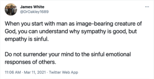 White's second tweet regarding empathy