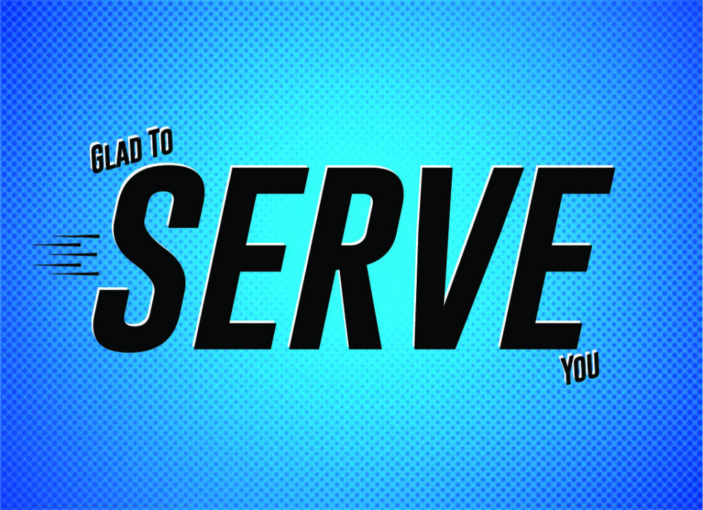 """New Gospel Tract: """"Glad to Serve You"""""""
