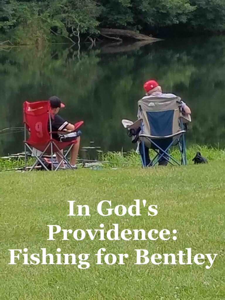 Pictured here is Steve and his grandson Bentley reading gospel tracts.